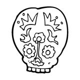 Cartoon sugar skull Royalty Free Stock Photography