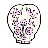 Cartoon sugar skull Stock Photography