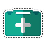 Cartoon suitcase first aid medical. Vector illustration eps 10 Royalty Free Stock Image