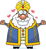 Cartoon Sultan Hug Royalty Free Stock Image