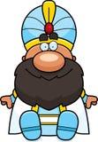 Cartoon Sultan Sitting Royalty Free Stock Photos