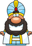 Cartoon Sultan Smiling Royalty Free Stock Images