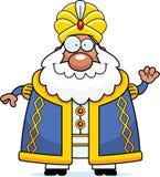 Cartoon Sultan Waving Stock Photos