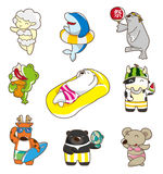 Cartoon summer animal. Vector illustration Royalty Free Stock Images