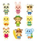 Cartoon summer animal Royalty Free Stock Photo