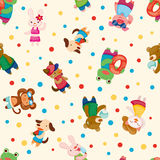 Cartoon summer animal seamless pattern Royalty Free Stock Photography