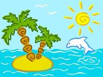 Cartoon summer illustration Stock Images