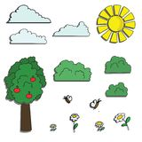 Cartoon summer nature Royalty Free Stock Images