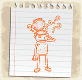 Cartoon summer on paper note, vector illustration Stock Images
