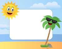 Cartoon Summer Photo Frame [1] Stock Photos