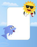 Cartoon Summer Photo Frame [2] Royalty Free Stock Photos