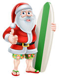 Cartoon Summer Santa Royalty Free Stock Photo