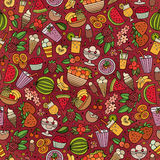 Cartoon summer time seamless pattern Royalty Free Stock Photography