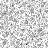 Cartoon summer time seamless pattern Stock Photos
