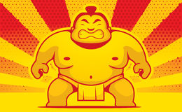 Cartoon Sumo Wrestler Royalty Free Stock Images