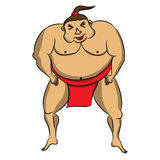 Cartoon sumo wrestler. Stock Photo