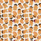 Cartoon Sumo wrestler seamless pattern Royalty Free Stock Photo