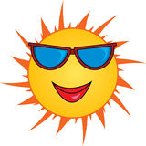 Cartoon sun. Illustration of a female cartoon sun weather sunglasses vector illustration