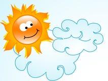Cartoon sun Royalty Free Stock Image