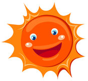 Cartoon sun. Illustration of isolated cartoon sun on white background vector illustration