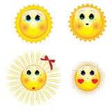 Cartoon_sun Stock Image