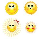Cartoon_sun Imagem de Stock