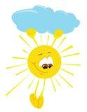Cartoon sun Stock Images