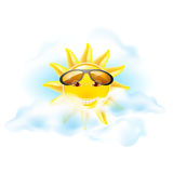 Cartoon sun Stock Image
