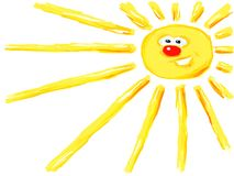 Cartoon sun Royalty Free Stock Photography