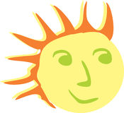 Cartoon sun Royalty Free Stock Photo