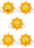 Cartoon Sun Character Set Royalty Free Stock Images