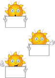 Cartoon Sun Character Set Stock Photo