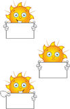 Cartoon Sun Character Set Stock Image