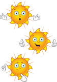 Cartoon Sun Character Set Stock Photos