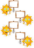 Cartoon Sun Character Set Royalty Free Stock Image