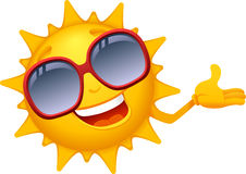 Cartoon Sun Characters 2 Stock Photography