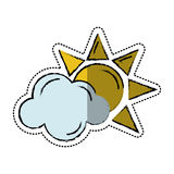 Cartoon sun cloud weather symbol Stock Images