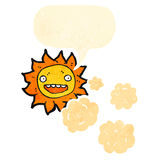 Cartoon sun and clouds Royalty Free Stock Photos