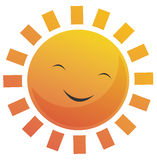 Cartoon Sun Face Stock Photography