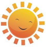 Cartoon Sun Face. Cartoon illustration of a sun with a smile face vector illustration