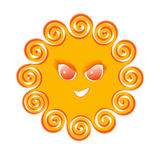 cartoon  Sun face Royalty Free Stock Photography