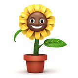 Cartoon sun flower Royalty Free Stock Photos