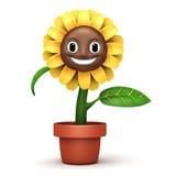 Cartoon sun flower Royalty Free Stock Photos