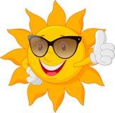 Cartoon sun giving thumb up Royalty Free Stock Image
