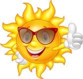 Cartoon sun giving thumb up Royalty Free Stock Photo