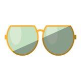 Cartoon sun glasses beach shadow Royalty Free Stock Image