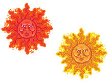 Cartoon sun Stock Photos
