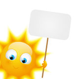 Cartoon Sun with paper plate Stock Photography