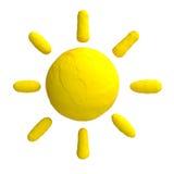 Cartoon sun from plasticine or clay Stock Photo