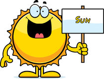 Cartoon Sun Sign Royalty Free Stock Images